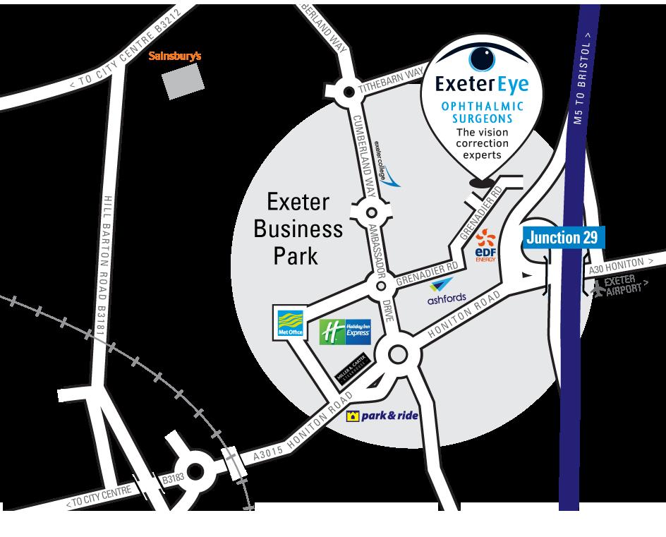 Exeter Eye Map for Exeter Eye website Sept 2018