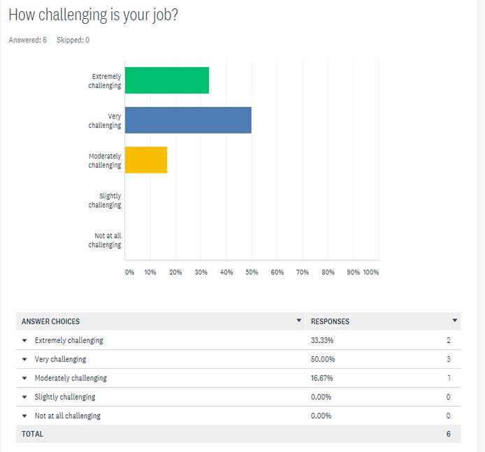 Exeter Eye Staff Survey Nov 2011 - How challenging is your job