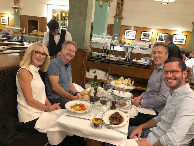 Exeter Eye Team enjoying french cuisine at the ESCRS in Paris