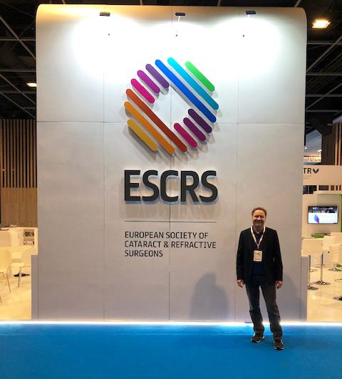 Eye Consultant Peter Simcock at the European Society of Cataract & Refractive Surgeons Conference in Paris